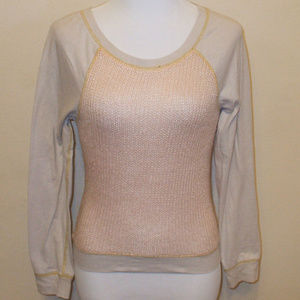 Sweater Front Long Sleeve Shirt Top